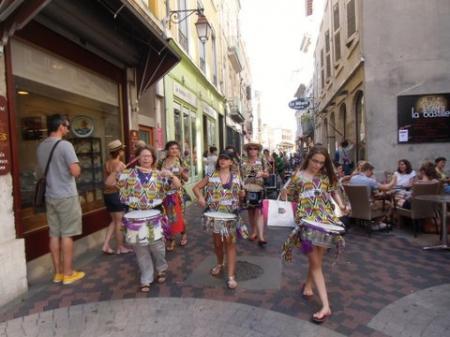 La BATUCADU avec Alternatiba à Valence