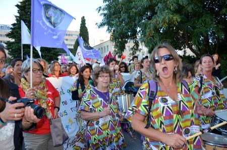 la batucafam à Marseille pour la 4è Marche Mondiale 2015