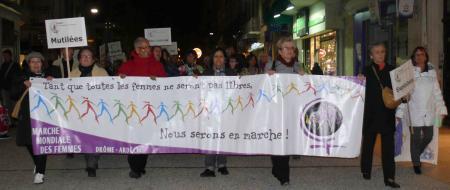 Marche contre les violences faites aux Femmes à Valence 24/11/12
